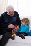 Grandfather and boy Royalty Free Stock Photos