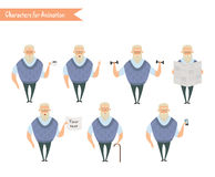 Grandfather character for scenes. Royalty Free Stock Image