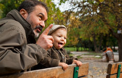 Grandfather and child Royalty Free Stock Photography