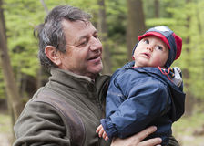 Grandfather with child Royalty Free Stock Photos