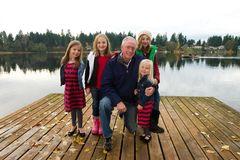 Grandfather and children Royalty Free Stock Photo