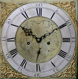 Grandfather Clock. Full face of Grandfather Clock Stock Images