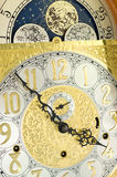 Grandfather Clock Face and Moon Dial Royalty Free Stock Images