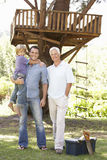 Grandfather, Father And Son Building Tree House Together Royalty Free Stock Photography