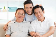 Grandfather, father and son Stock Photo