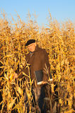 Grandfather in field Stock Image