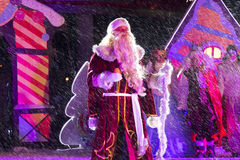 Grandfather Frost (Ded Moroz). New Year's performance in  Pyatig Stock Image