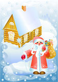 Grandfather a frost with gifts (vector) Stock Photography