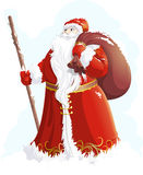 Grandfather Frost painted on a white background Stock Image