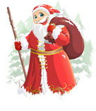 Grandfather Frost painted on a white background Stock Photo