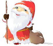 Grandfather Frost painted on a white background Royalty Free Stock Photos