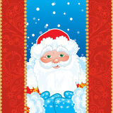 Grandfather Frost. Santa Claus in red frame with Stock Image