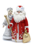 Grandfather Frost with Snowmaiden Royalty Free Stock Images