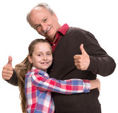 Grandfather with grandaughter Royalty Free Stock Image