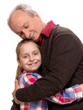 Grandfather with grandaughter Royalty Free Stock Photography