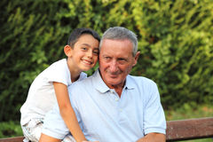 Grandfather and grandchild Royalty Free Stock Photos