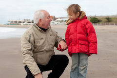 Grandfather and grandchild Royalty Free Stock Photography