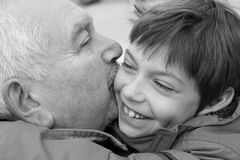 Grandfather and grandchild Royalty Free Stock Image