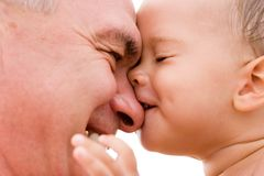 Grandfather and grandchild Stock Image