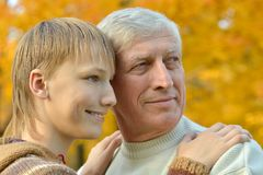 Grandfather with grandchild Royalty Free Stock Photos