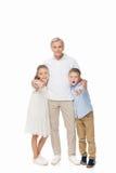 Grandfather and grandchildren Stock Image