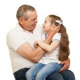 Grandfather and grandchildren portrait Stock Photography