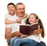 Grandfather and grandchildren portrait Stock Photo