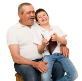 Grandfather and grandchildren portrait Royalty Free Stock Images