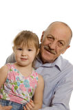Grandfather with the granddaughter Royalty Free Stock Image