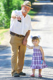 Grandfather and granddaughter Royalty Free Stock Photography
