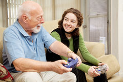Grandfather Granddaughter Bonding Stock Image
