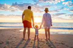 Grandfather and grandmother with grandson Royalty Free Stock Images