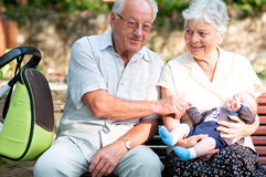 Grandfather and grandmother Stock Photography