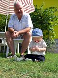 Grandfather and grandsoh stock photo