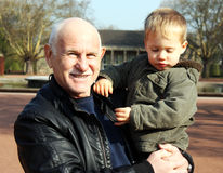 Grandfather with grandson Royalty Free Stock Images
