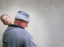 Grandfather and grandson Stock Photography