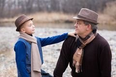 Grandfather and grandson. Stock Images