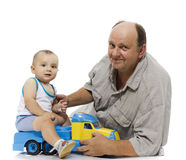 The grandfather and the grandson Royalty Free Stock Photography