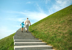 The grandfather and grandson Royalty Free Stock Photo