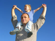 Grandfather with grandson. 3 stock photography