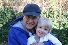 Grandfather and Grandson Royalty Free Stock Images
