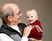 Grandfather with grandson Royalty Free Stock Image