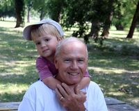 Grandfather & Grandson Royalty Free Stock Image