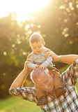 Grandfather and grandson Royalty Free Stock Photography