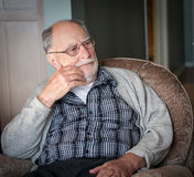 Grandfather with a gray sweater Royalty Free Stock Photo