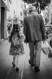 Grandfather And His Grand Daughter Royalty Free Stock Photo