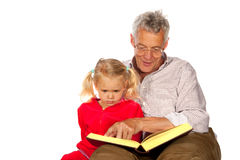 Grandfather with his grandchild Royalty Free Stock Images