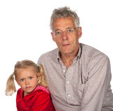 Grandfather with his grandchild Stock Photo