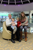 Grandfather with his grandchildren Royalty Free Stock Photo