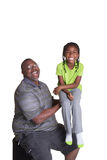 A grandfather and his granddaughter Royalty Free Stock Images